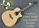 Lawson Acoustic Electric Guitar Flame Maple top With Onboard Tuner Rosewood back